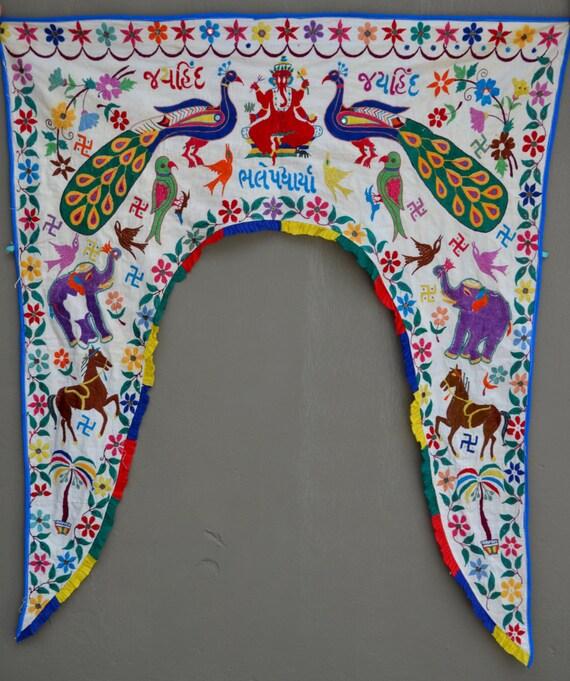 Indian Toran Temple Decor Door Arch Curtain Window Valance