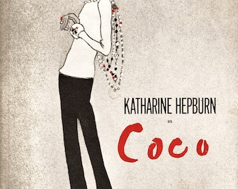 "Vintage 60's ""Katherine Hepburn as Coco"" Souvenir Program w BONUS Original Paper Publication Paper Ephemera Collectibile FREE Priority Ship"