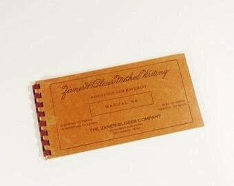 Vintage Pensmanship Manual