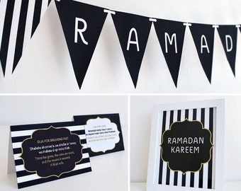 Printable Ramadan Decoration Set (Boutique) Islamic Design,