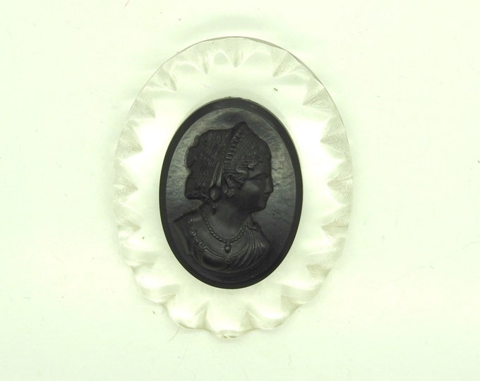 Black antique cameo pins