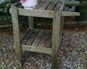 Plant Stand,Rustic Plant Stand,Plant Cart,Rustic Plant Cart,Shabby Plant Stand, Shabby Garden,Cottage Garden,Farmhouse Porch