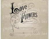 Wedding decor Instant graphic digital download image transfer for iron on Fabric Image for burlap pillow Decoupage Crafts  No gt 302