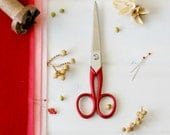 "Medium Scarlet Scissors - Medium Red Shears - Medium Fabric Scissors - Medium Sharp Scissor - Felt Scissors - 6-1/4"" Scissors - Red Scissors"