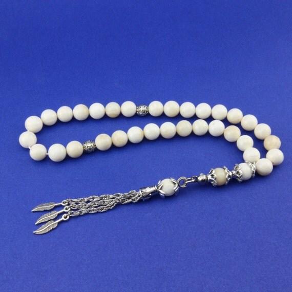 shell gemstone 33pcs islamic prayer misbaha tesbih