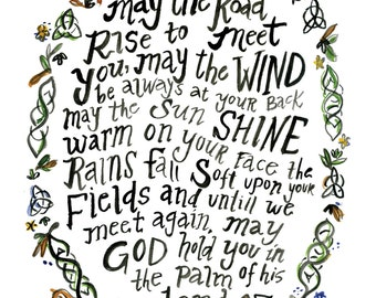 "Irish Blessing 8"" x 10"" print"