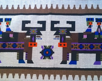 Tribal Wall Hanging - Handwoven Vintage Item