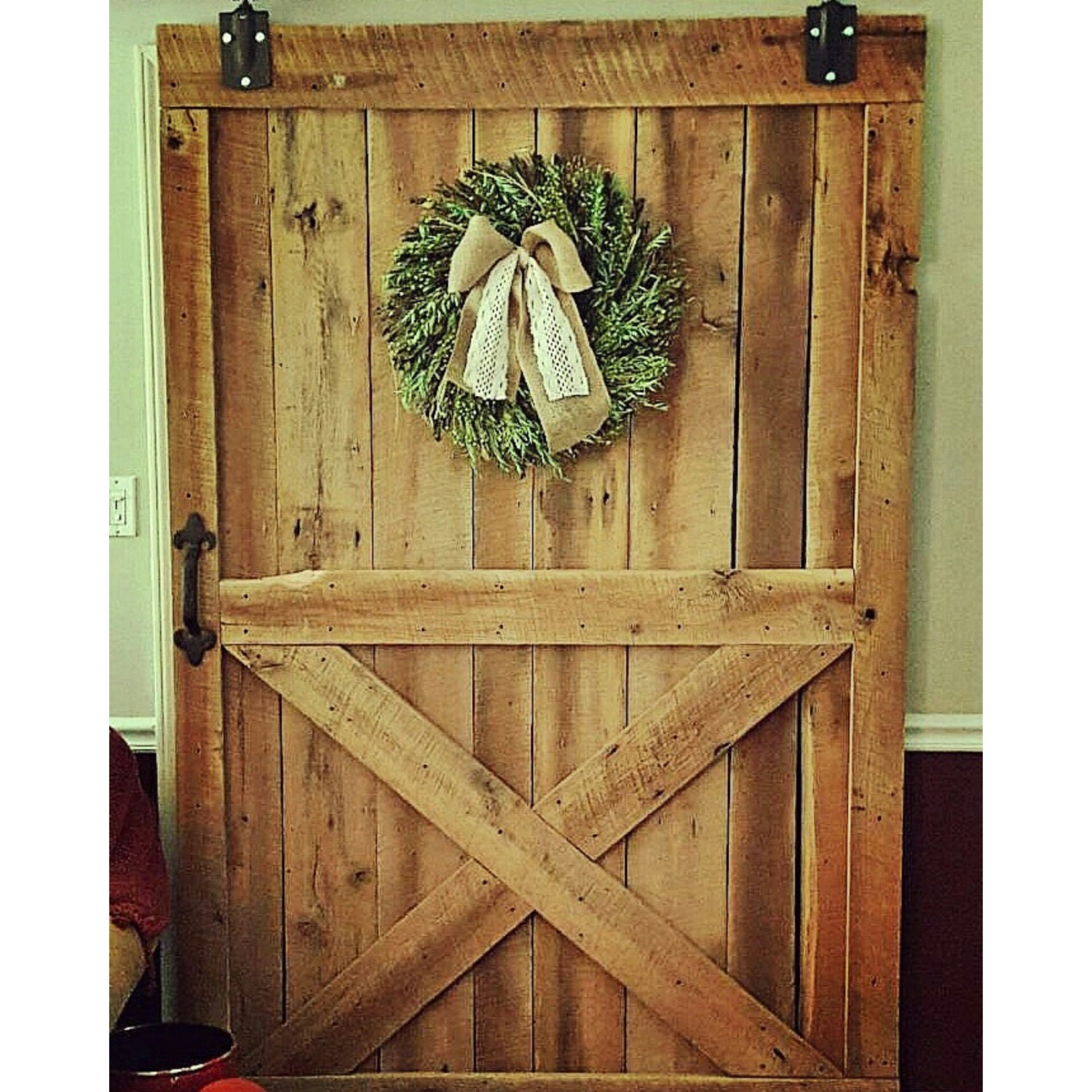 Reclaimed barn door custom barn wood vintage sliding doors for Custom made wood doors