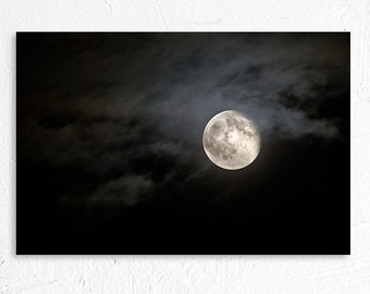 Night Sky Photography Full Moon Honey Moon June 13th 2014 Fine Art Photo Print