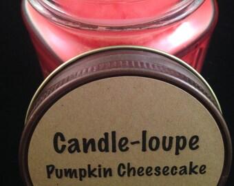 Pumpkin Cheesecake- 8 oz glass mason jar