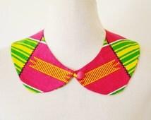 Kente Peter Pan Collar/ African Print Peter Pan Collar/ Kente Necklace / African Print Collar/ Detachable Collar/ Ankara