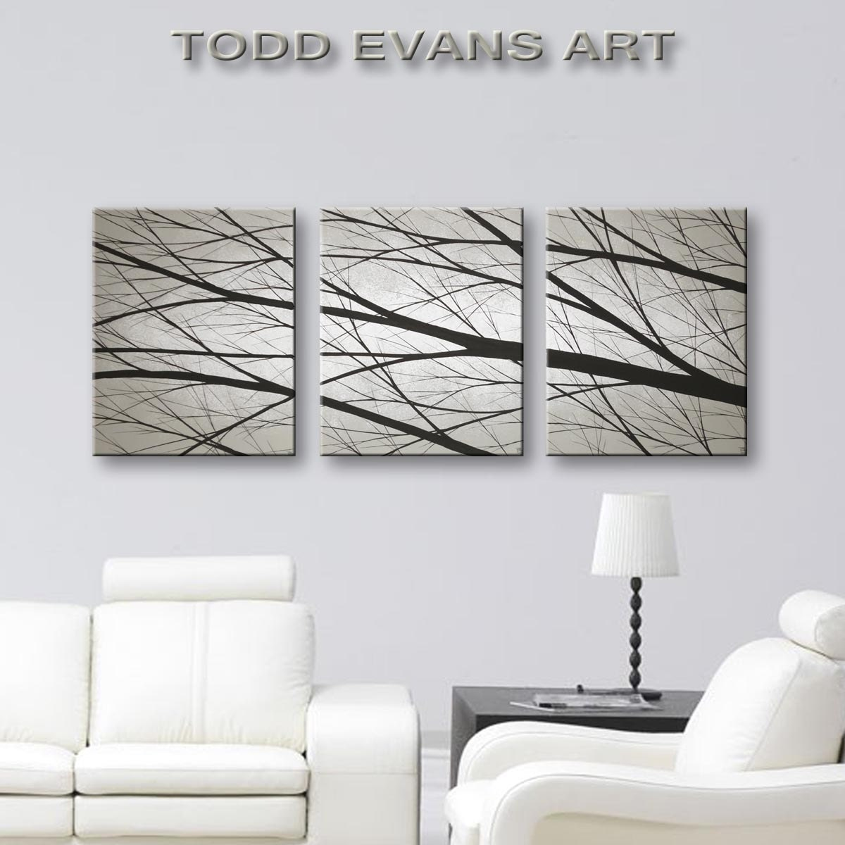 SALE Wall Art Large Canvas Art Tree Paintings Home By ToddEvansArt