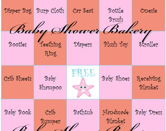Coral and Pink Under the Sea Theme Baby Shower Game, Under the Sea Baby Shower Bingo for Girl, Printable Coral Under the Sea Baby Gift Bingo