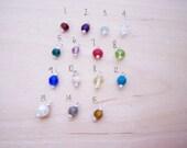 Add A Gemstone Birthstone Charm Dangle - Gemstone - Birthstone - Wire Wrapped Charm - Small Gemstone