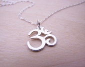 Dainty Ohm Necklace - Sterling Silver Necklace - Ohm Charm - Yoga Necklace - Yoga Jewelry - Simple Jewelry - Gift for Her