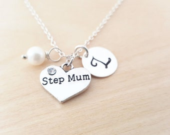 Step Mum Necklace - Stepmother Necklace -  Initial Necklace - Personalized Jewelry - Birthstone Necklace - Gift for Her