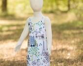 Vintage Paris Floral Eiffel Tower Dress - Baby Girl