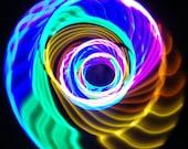 LED Hula Hoop Polypro HDPE Rainbow By TheHoopSmiths
