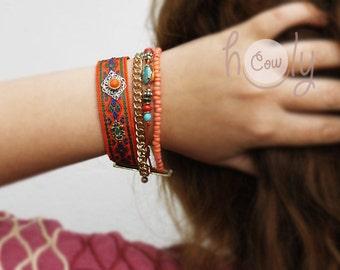 Handmade Womens Tribal Bracelet, Hippie Bracelet, Ethnic Bracelet, Boho Bracelet, Womens Bracelet, Friendship Bracelet, Gypsy Bracelet