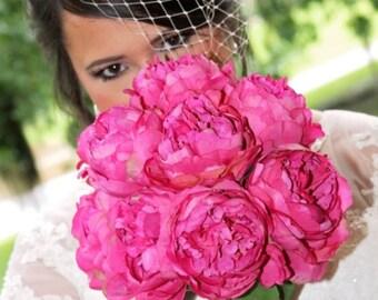 BIRDCAGE VEIL. Bridal Ivory Lace FASCINATOR with birdcage veil  Ivory Bridal Hat
