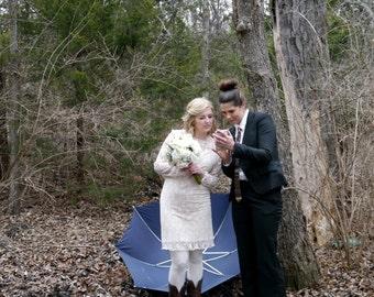 Lace wedding dress. boho wedding dress. plus size wedding dress. long sleeve wedding dress. lace dress. vintage wedding.simple wedding dress
