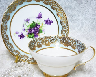 STANLEY Vintage China Tea Cup and Saucer, Floral Pattern, Vintage Wedding,  Tea Party