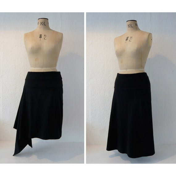 The Tapton comfy fold-over waist skirt sewing pattern (for stretch knit fabrics)