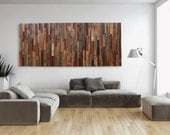 Large wood wall art made of old reclaimed barnwood, Different Sizes Available.
