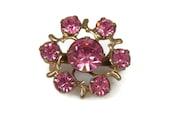 50s Pink Rhinestone Scatter Pin