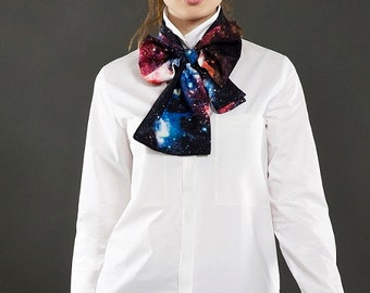 Nebula, Space Pattern Bow Scarf, Headband,  Thin Scarf, Hair scarf, Neck Bow, Head Wrap, Free shipping with another item!