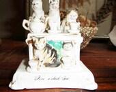 Victorian Fairing Cats at Five Oclock Tea Conta Boehme