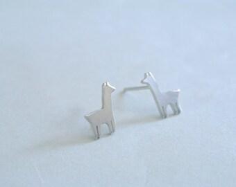 Tiny Llama Stud Earrings
