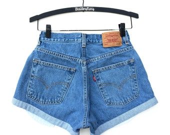 Levi's High Waisted Cut Off Denim Jean Shorts  - Sizes US 0 - 20 Womens