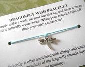 Dragonfly Wish Bracelet- Choose your color