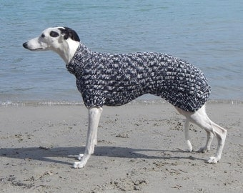 Ready to ship: Whippet Sweater black and white graphic print