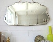 Art Deco Mirror with Bevelled Edge