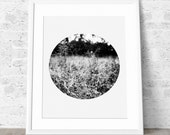 Geometric Print, Black and White Photography, Printable Art, Nature Photo, Monochrome Design.