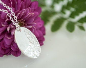Silver Butterfly Necklace - .999 Fine Silver