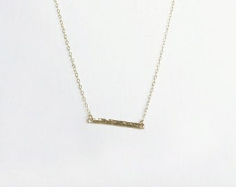 Gold Bar Necklace . Horizontal bar necklace . simple gold necklace . minimalist necklace . Australian shop