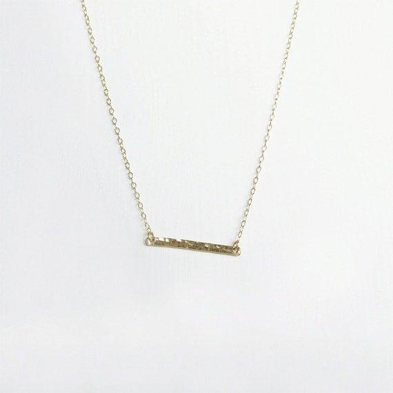 gold bar necklace horizontal bar necklace simple gold. Black Bedroom Furniture Sets. Home Design Ideas