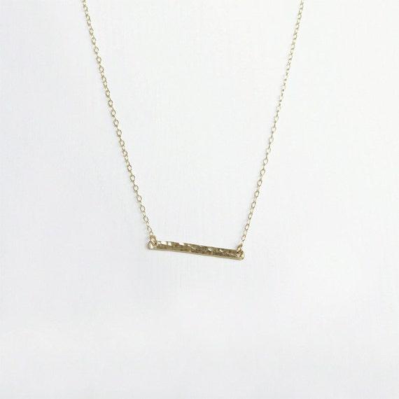 gold bar necklace horizontal bar necklace simple gold