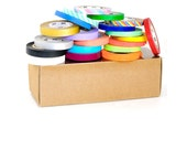 20 rolls - mt Slim Japanese Washi Tape Set with Kraft Storage Box - 6mm & 8mm Perfect for Planners - Neon, Metallic, Matte, Twist