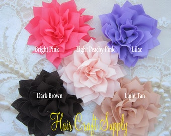 """10 COLORS to choose from: Poinsettia Flowers to make headbands or clips. 4"""" wide, ready to attach to elastic or clips. Perfect for all ages."""