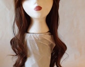 Wavy Brown w/Black Cosplay Wig