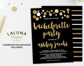 Bachelorette Party Invitation, Bachelorette Party Invites, Printable Bachelorette Invitation, Glitter Bachelorette, Hens Party Invitation