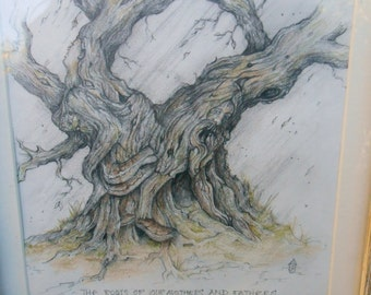 The Roots of our mothers and fathers -original pencil drawing