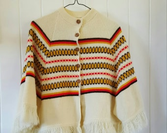 Girls Poncho vintage size 10