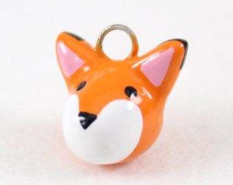 Orange Fox Charm - Polymer Clay Charm - Polymer Clay Fox - Kawaii Charm - Fox Jewelry - Cute Fox Charm - Kawaii Fox Charm - Cell Phone Charm