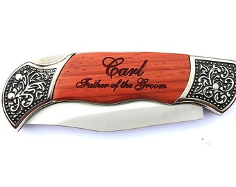 Father of the Bride Gift, Father Daughter Gift, Father in Law Gift, Father of the Groom, Personalized Engraved Knife, Groomsmen Gifts