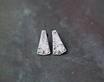 Simple Geometric Studs - Rustic Southwestern Stud Earrings - Minimalist Post Earrings - Isis Studs - Edgy Bohemian Earrings - Earthy Jewelry